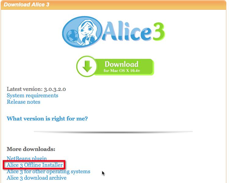 Alice FAQ / Installing Alice