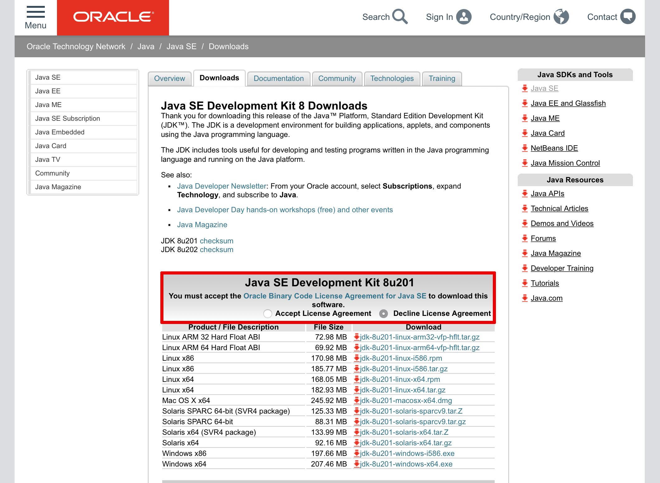 Alice FAQ / java download and installation